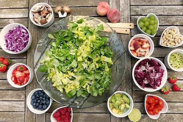gekleurde salade