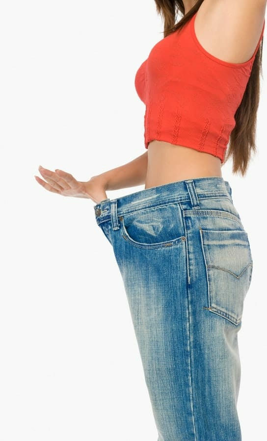 dun meisje gewichtsverlies