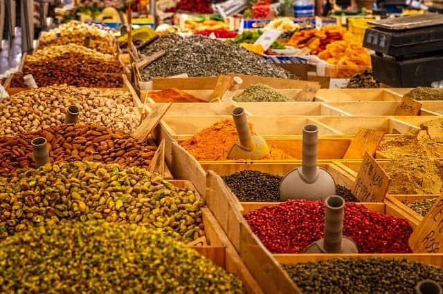 specerijen, kruiden, markt