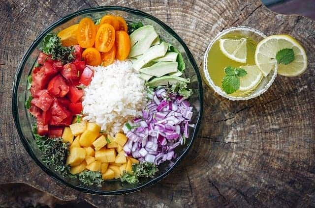 salade en citroensap