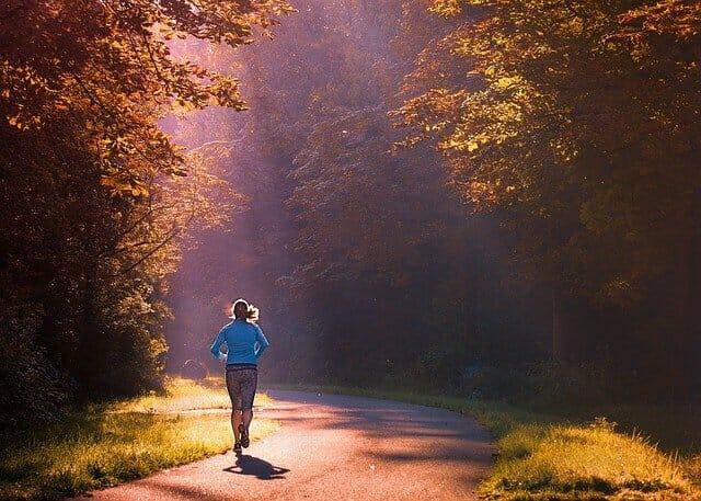 rennen, rennen in het park