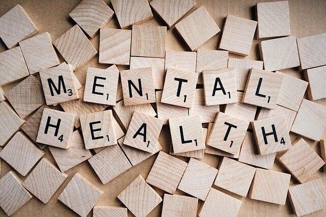 Mental Health Scrabble-inscriptie