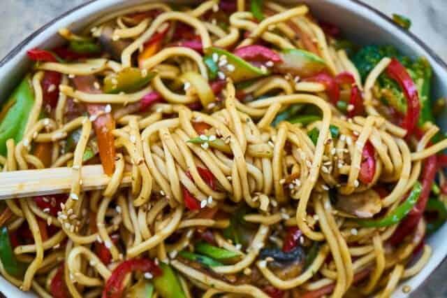 pasta met groenten